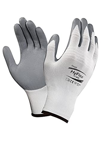Ansell HyFlex 11-800 Multi-purpose gloves, mechanical protection, Grey, Size 9 (Pack of 12 pairs)