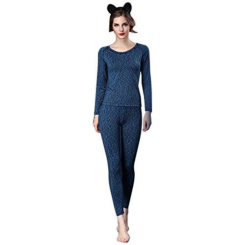 Dreamworldeu - Ensemble de pyjama - Femme bleu foncé
