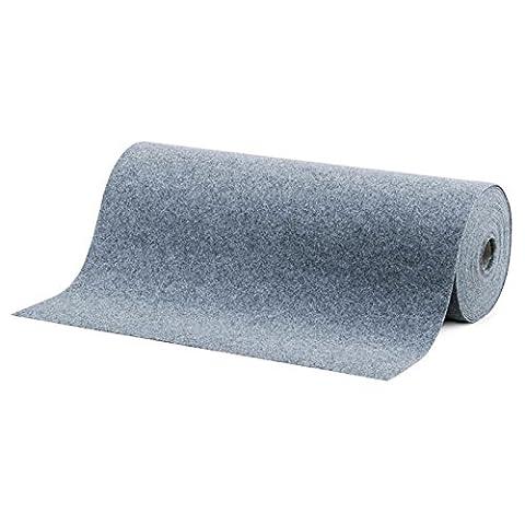 Moquette d'extérieur casa pura® grise au mètre | tailles au choix | tapis type gazon artificiel - pour jardin, terrasse, balcon etc. | revêtement de sol outdoor |