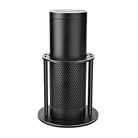 Speaker Stand for Amazon Echo, UE Boom and Other Models - Protect and Stabilize Alexa by GVDV-Aluminum