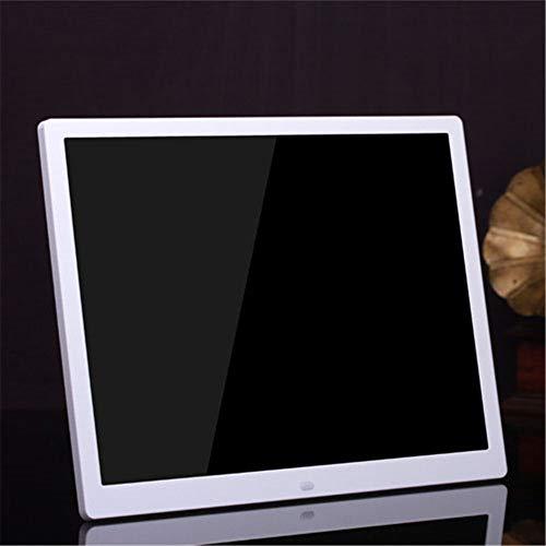 RENYAYA 14 Zoll Digital Photo Frame 1080P HD IPS LCD Display Electronic Picture Frame, HD Video/MP3/Electronic Photo/Advertising Display/Digital Clock/Calendar,White - Zoll Digital Photo 14 Frame