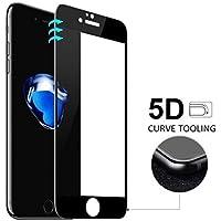 """MARVTEK Vidrio Cristal Templado Completo para iPhone 8 4.7"""" Curvo 5D (NUEVA Versión Esquinas y Laterales Reforzado). Protector de Pantalla Completa 3D para iPhone 8 4,7"""" (Negro).[Compatible con iPhone 7 4,7""""]"""