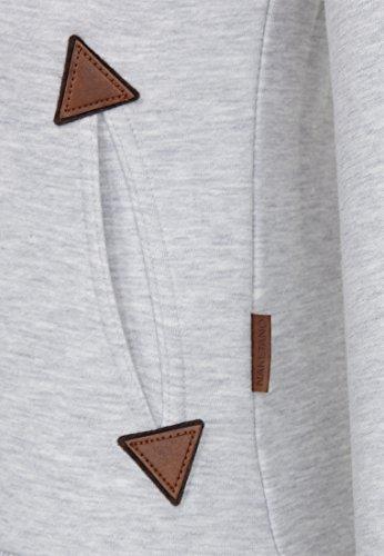 Naketano Female Zipped Jacket Hamza Bau ma IV Amazing Grey Melange