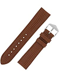 Jewelry & Watches Watches, Parts & Accessories 8mm Di Modell Genuine Lizard Brown Stitched Padded Ladies Watch Band Modern Techniques