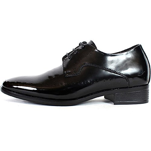 New Mens Elevator Taller Height Incresing Dress Formal Leather Shoes Black  (9.5)