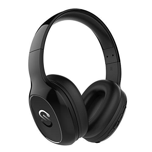 Auriculares Diadema Bluetooth 4.1 Inalámbricos SoundPEATS Cascos con Micrófono Over-ear Sonido Estéreo Super-bass Cancelación del Ruido para PC/TV/Móviles (Negro)