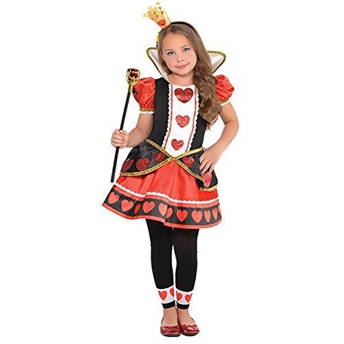 Königin der Herzen Mädchen Kostüm Märchen Büchertag Kinder Kostüm Neue - Mehrfarbig, 128-140