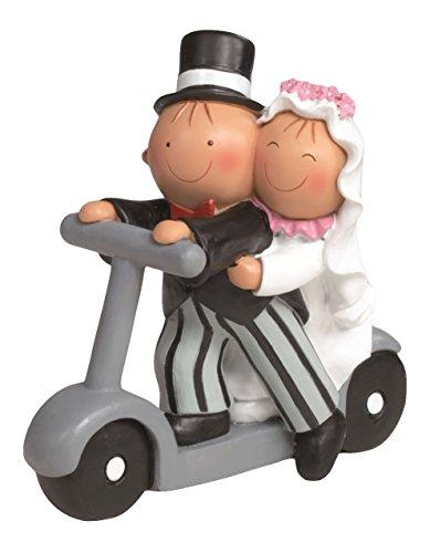 Mopec Y750 - Cake Figure Couple of Boyfriends Pit & Pita on Scooter, 17 cm