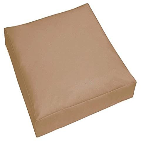 Jumbo Large Waterproof Water Resistant Outdoor Cushion Garden Patio Chair Seat Cover Pads Plush Padded Pillow (Stone)