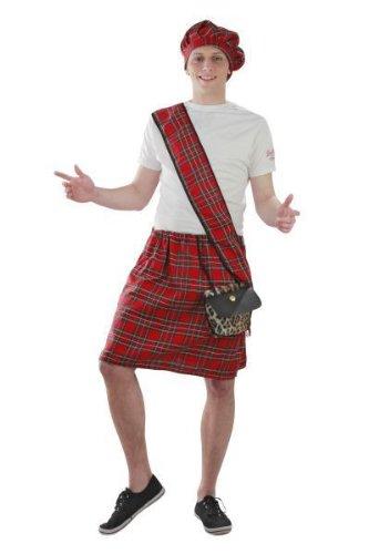 Foxxeo Kostüm Schotte Schottenrock Schottland Karneval Kostüme Größe M-L (Schotte Kostüm)