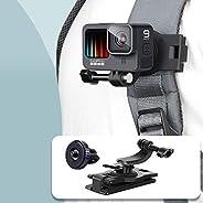 VKESEN Zaino girevole a 360 gradi per GoPro Hero 9, 8, 7, Insta360, DJI Osmo Action Camera