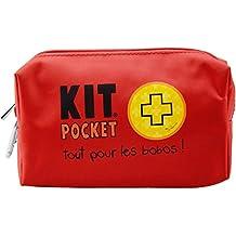 Incidence 31504 Trousse Kit pocket Premiers secours Tout pour les bobos Rouge 1 trousse + 24 accessoires