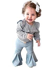 Daoope Tute Neonato 0-3 3-6 6-9 12 Mesi Bimbo 24 Mesi Abbigliamento 0 24  Mesi Tuta Completino Bambina Set di Jeans Pantaloni A Maniche… a590957b112