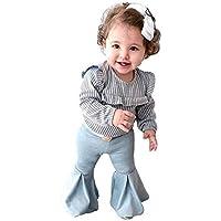 Daoope Bambina Estate Body 24 Mesi Cotone Bambini Abiti Ragazza Estate Bambini Ragazze Vestiti Set Ragazza Stampa Cuore A Forma di Corno di Trapano Caldo Pantaloni Manica Corta Set