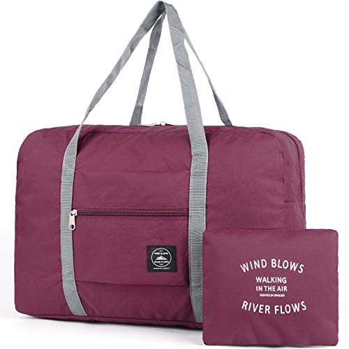 009c051b7f Packable Carry on Duffel Bag Travel Tote Weekender Sport Gym Duffle Bag for  Women and Girls