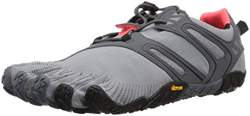Vibram Five Fingers V-TRAIL, Scarpe da Corsa Donna, Grigio (Grey/Black/Orange), 36 EU