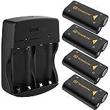 Smatree 4x2600mAh Rechargeable Batterie pour Xbox Series X/Xbox Series S/Xbox One/Xbox One S/Xbox One X Contrôleur/Manette Xb