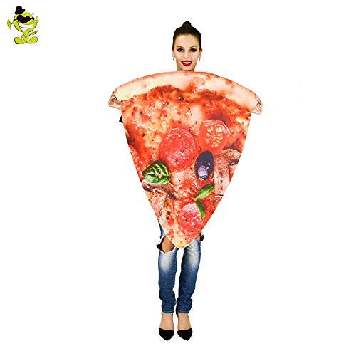AA Erwachsene Unisex Pizza Slice Leistung Kostüm Essen Cartoon Overall Lustige Party Cosplay for Karneval Einkaufszentrum Aktivitäten SD (Color : Onecolor, Size : Onesize)