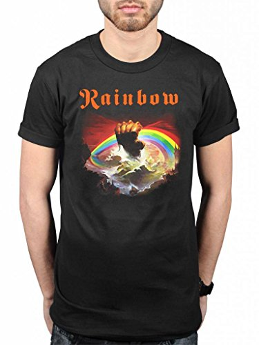 Official Rainbow Rising T-Shirt Rock Band Heavy Metal Album On Stage -