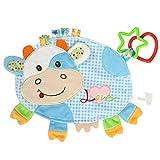 CX Beschwichtigen Tuch Spielzeug, Baby-Kuh-Cartoon-Puppe Comfort Handtuch Plüschtier Baby-Calm Tücher Tuch Beruhigungssa