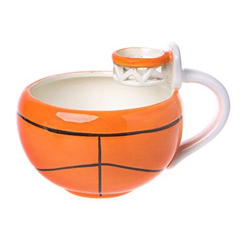 e Kreativer Basketball-Fußball-Trinkbecher für Tee-Frühstücks-Kaffee 500ml ()