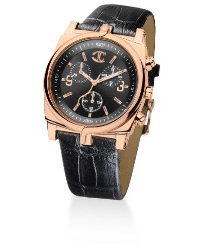 Just Cavalli 'Ular' Men's Analog Quartz Watch with Black Leather Strap