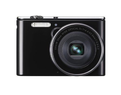 Casio Exilim EX-JE10 Digitalkamera (16,1 Megapixel, 6,9 cm (2,7 Zoll) Display, 5-fach opt. Zoom, HD-Videoaufnahme, 26mm Weitwinkeloptik) schwarz Casio Exilim