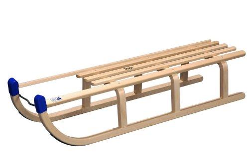 COLINT Holzschlitten DAVOS 110 cm Schlitten Holz Rodel DCL 60110