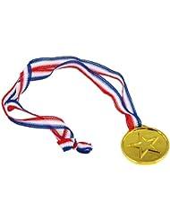 TRIXES 12 plastique or Vainqueurs Médailles - Thème Sport Day / Olympique / Récompenses