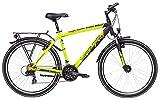 Yazoo Jugend Fahrrad 26 Zoll Devil 2.6 - Trekkingbike 21-Gang Kettenschaltung - Suntour Federgabel, schwarz/metallic Lime matt