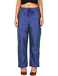 PEEPAL Women's Regular Fit Satin Pants