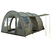 CampFeuer Big Tunnel-Tent, Olive-Green/Grey, 5000 mm