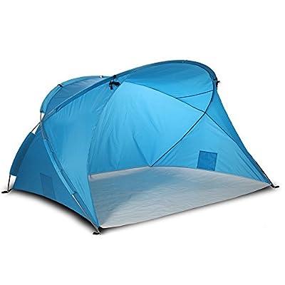 Große XXL Strandmuschel Santorin, UV 80 Sonnenschutz, kleines Packmaß, windstabil, Qualität von outdoorer