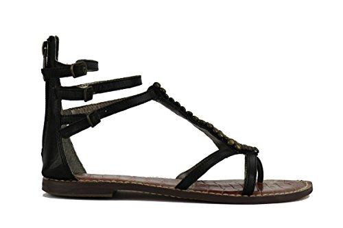 SAM EDELMAN sandali donna pelle oro nero (36 EU, Nero)