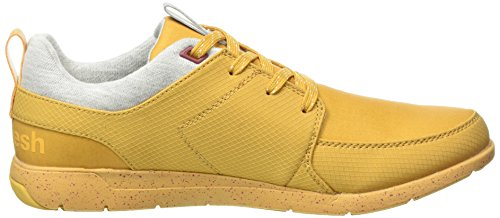 Boxfresh Aggra Bch Rip, Sneakers basses homme jaune  (Hny/Eth Red)