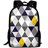best& Stylish Smuk Geo Mod Navy Yellow Grey Laptop Backpack School Backpack Bookbags College Bags Daypack