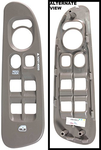 APDTY 5HZ71WL5AE Power Window Switch Bezel Trim For 2002-2005 Dodge Ram Pickup 1500 2500 3500 (Front Left) (Tan/Taupe Color) (5HZ71WL5AD, 5HZ71WL5AE) by