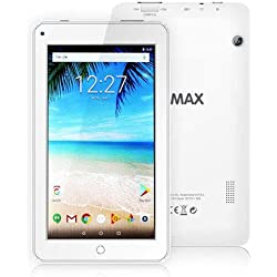 ECVILLA KMAX 19,0cm (7 Zoll) Tablet-Pc (Quad Core, 16GB eMMC, Android 7.0 Lollipop, Wi-Fi ) wei?