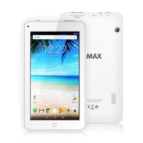 ECVILLA KMAX 19,0cm (7 Zoll) Tablet-Pc (Quad Core, 16GB eMMC, Android 7.0 Lollipop, Wi-Fi ) wei?