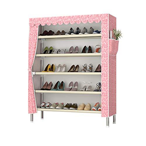 Xiuyun Range-chaussures Tour Organisateur De Stockage Simple Multi-couche Assemblage Ménage Etanche À La Poussière Gain D'espace Grande Capacité (Couleur : B, taille : M)
