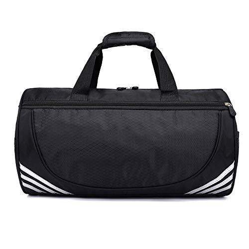 JESSIEKERVIN YY3 Yoga Tasche Schulter Zylinder Tasche Taekwondo Tasche Sport tragbare Reisetasche Schwimmen Fitness Tasche (Farbe : Black-White, Size : S) -