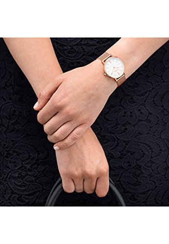 CHRIST times Damen-Armbanduhr Analog Quarz One Size, weiß, rosé -