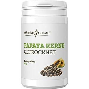 effective nature Papaya Kerne getrocknet | aus Wildwuchs der peruanischen Bergpapaya | enthält das Enzym Papain | tolles, natürliches Gewürz mit mildem, pfeffrigem Geschmack | 50 g