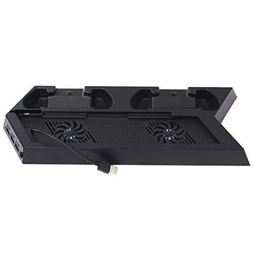 youtiankai Fan PS4 Kühlstation Vertikaler Ständer mit 2 Controller Ladestation PlayStat -