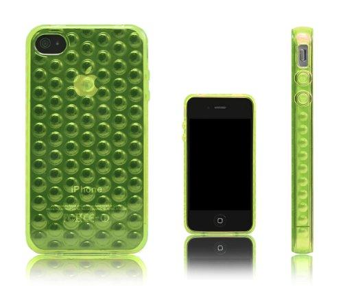 XCessor bubbles coque de protection en silicone tPU pour apple iPhone 4 et 4S Green / Transparent