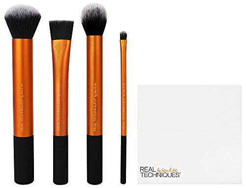 Real Techniques Flawless Base Make-up Brush Set (pot colour may vary)