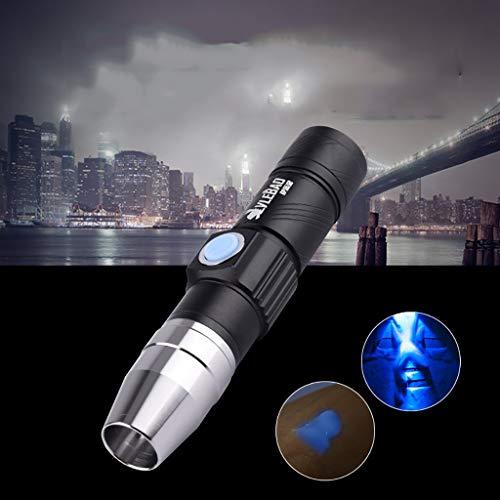 Neue 365Nm UV-Taschenlampe kosmetische Maske Damenbinde Test weißes Licht bernsteinfarbenen Licht fluoreszierende Agent Erkennung Stift