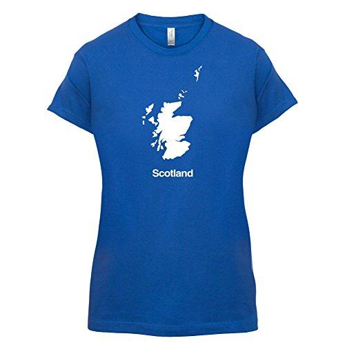 Scotland / Schottland Silhouette - Damen T-Shirt - 14 Farben Royalblau