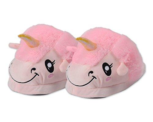 DSstyles-Lindo-Unicornio-Zapatillas-de-Felpa-Unicornio-Zapatos-Zapatillas-de-Casa-de-Novedad-Rosa