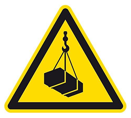Warnzeichen - Warnung vor schwebender Last - Folie Selbstklebend - 30 x 30 cm